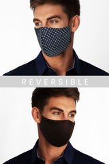 Face Mask - Window Pane in Blue Pattern (Non Returnable)