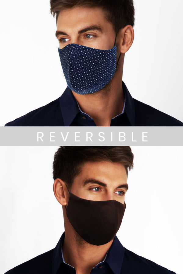 Reversible Face Mask - Triangle Pattern (Non Returnable)
