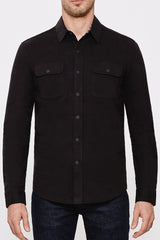 Alpine Line in Black Shirt Jacket