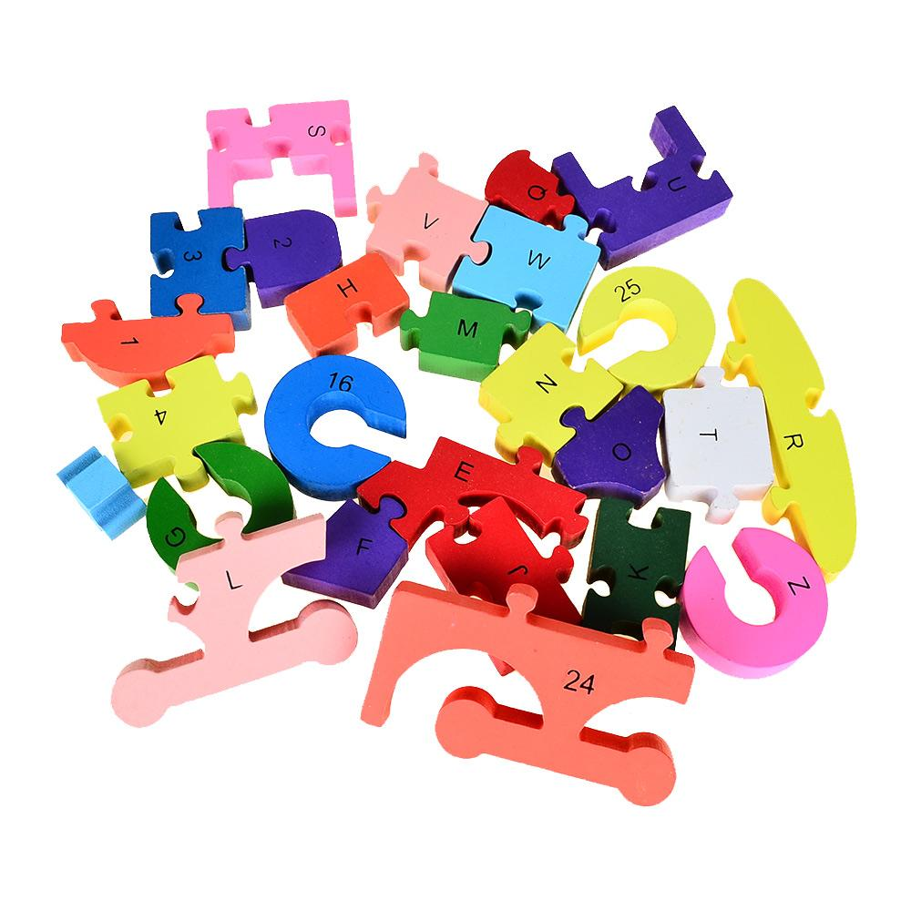 Alphabet Letter Numbers Wooden Jigsaw Puzzle Animals