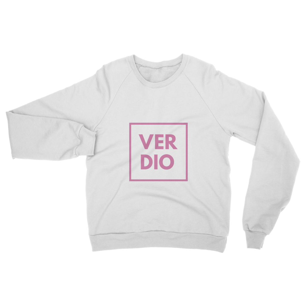 PINK WHITE Heavy Blend Crew Neck Sweatshirt