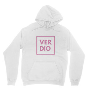 PINK WHITE Heavy Blend Hooded Sweatshirt