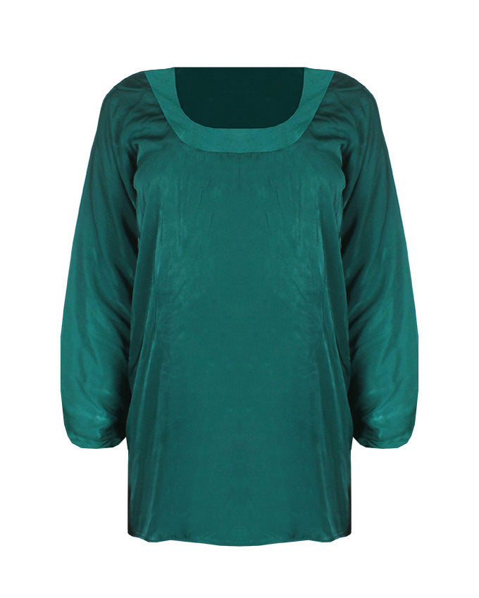 Best of Plains Loose Blouse in Green