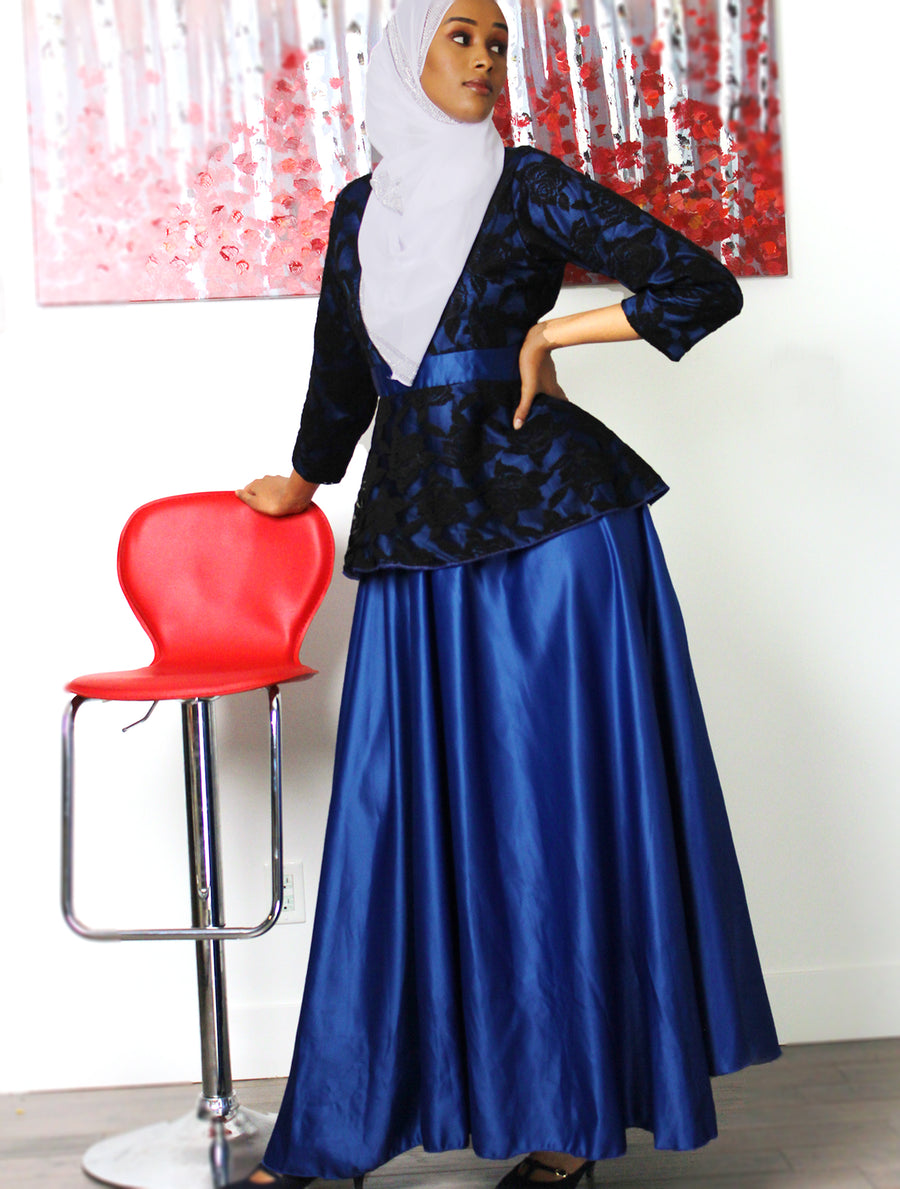Something Special Blue Peplum Dress