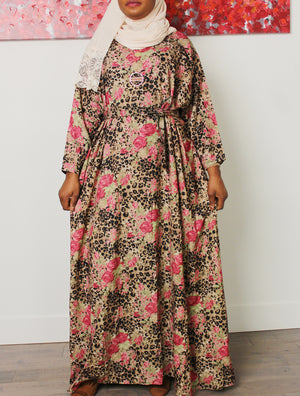 Stunning in Floral Maxi Dress