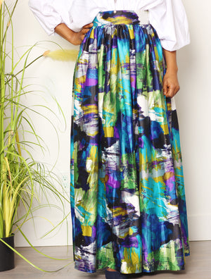 Elegant Sis Gathered Maxi Skirt
