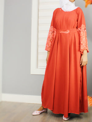 Eid on My Mind Flowy Lace Dress