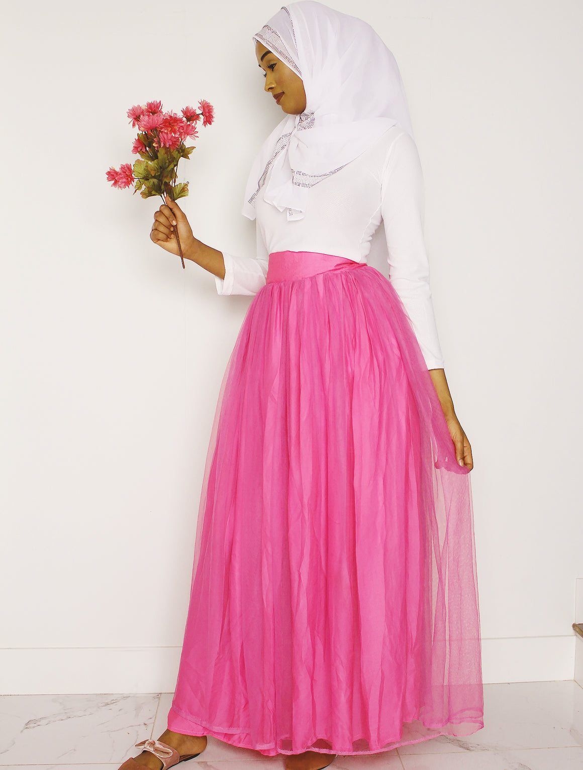 Tulle Beauty High Waist Maxi Skirt