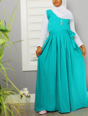 Layering is Fun Pleated Maxi Dress