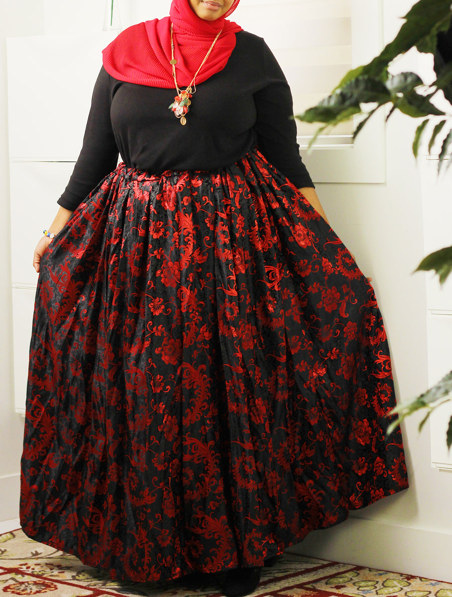 Yes to Holidays Damask Skirt