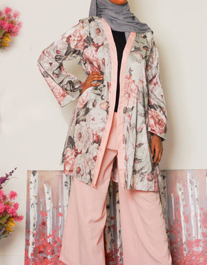 Take the lead Two Piece Kimono and Pant Set