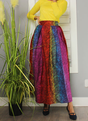 Boss Lady High Waist Pleated Skirt