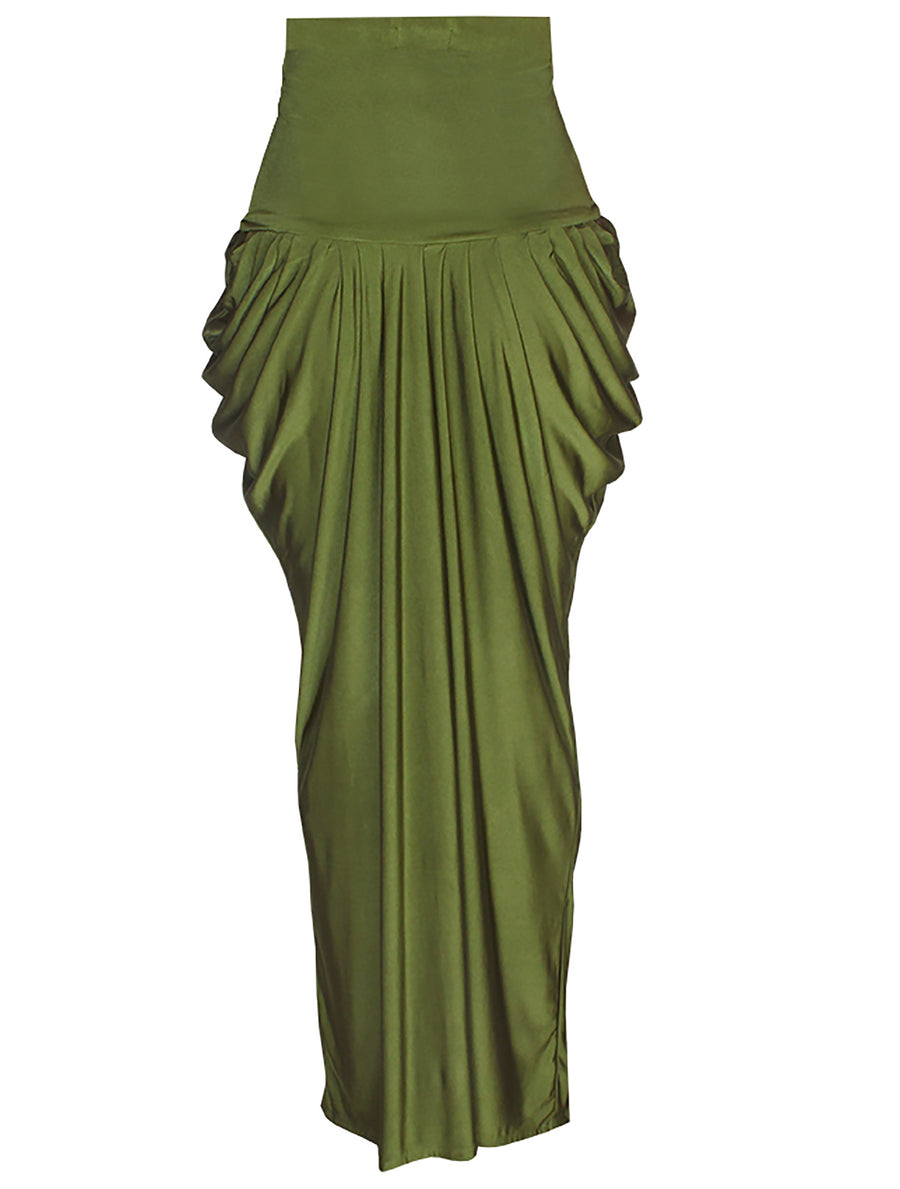 Conversation Starter Long Draped Skirt