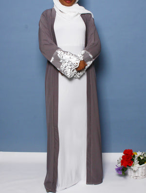 Perfect Addition Lace Open Abaya