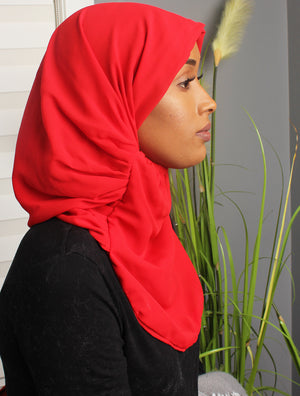 Red Instant Hijab
