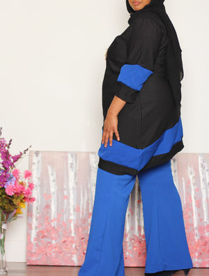 I'm all Set! Asymmetric Top and Pant Set