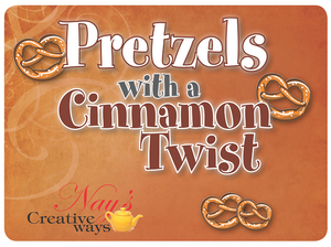 Pretzels with a Cinnamon Twist - 6 Ounce