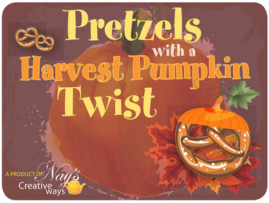 Pretzels with a Harvest Pumpkin Twist - 6 Ounce (If you liked Cinnamon, you will like these!)