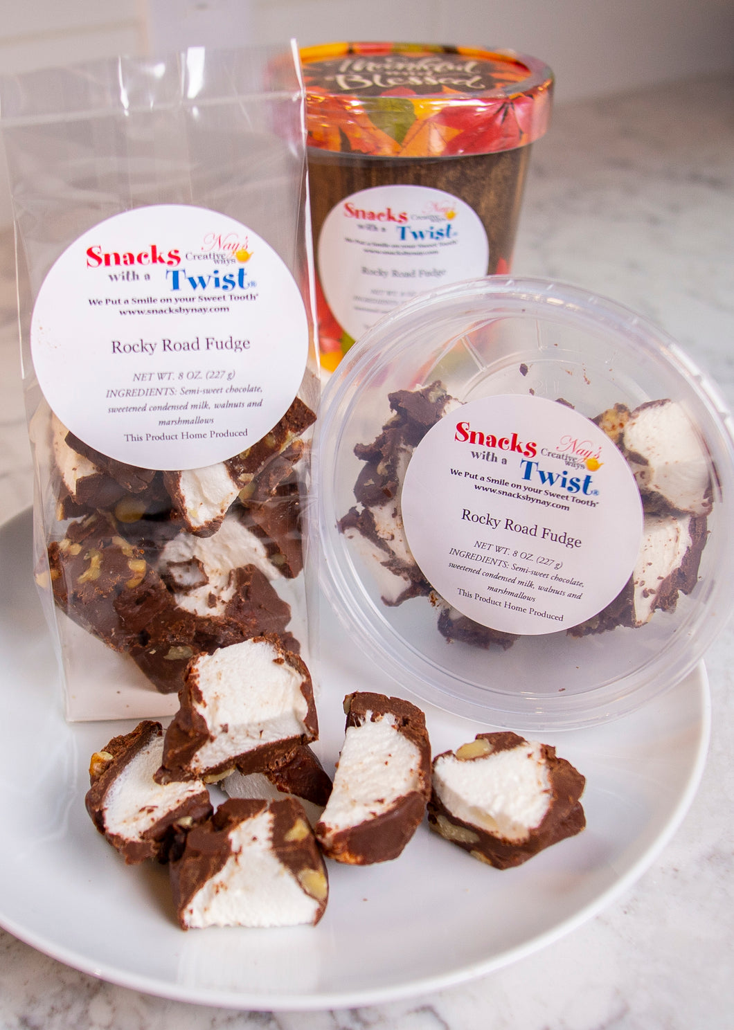 Rocky Road Fudge 4 ounce