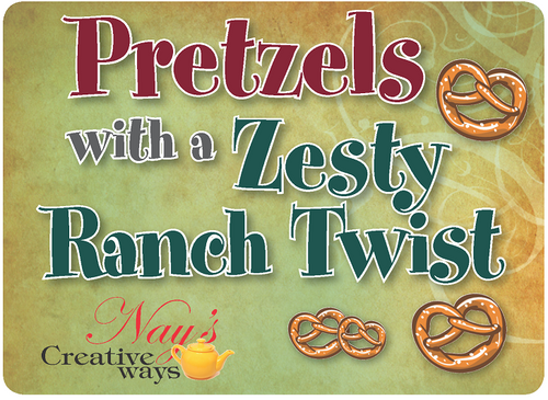 Pretzels with a Zesty Ranch Twist - 6 Ounce