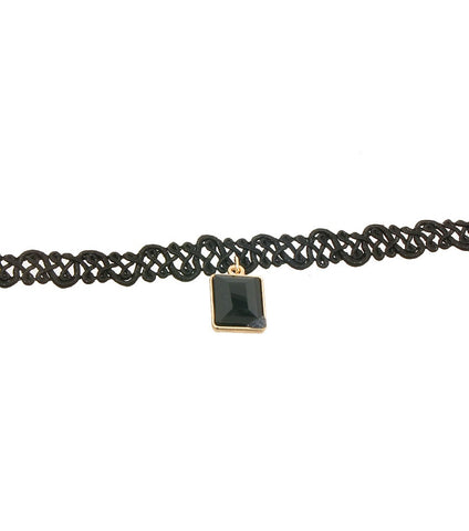 Pendant Choker Color - Black
