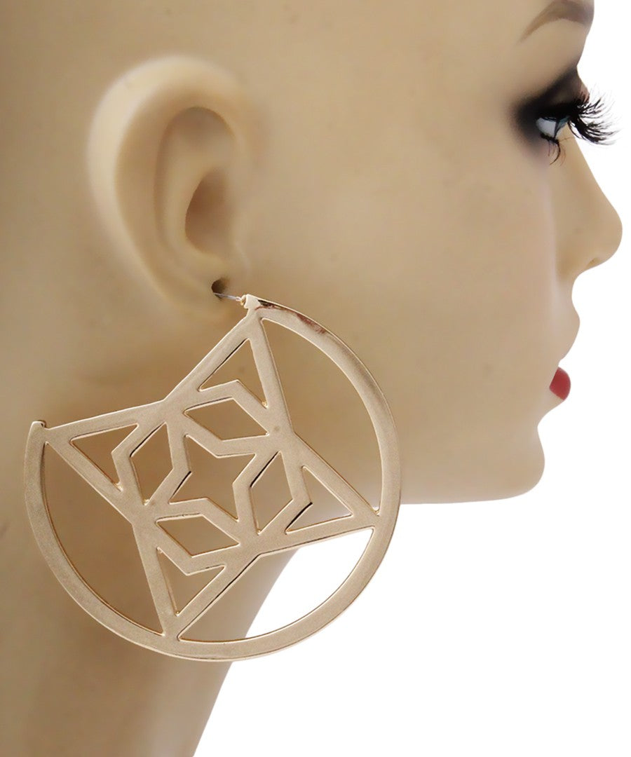 Thick Gold Hoops with Multi Stars