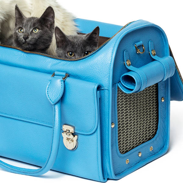Land of Meow Moshiqa Blue Cat Carrier