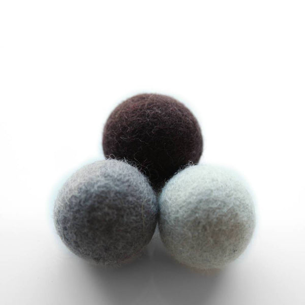 Felt Ball Trio Cat Toy - Shadows