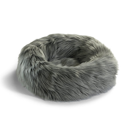 Land of Meow | Mia Cara Capello Cat Bed - Grey/Black