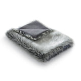Land of Meow | Mia Cara Lana Cat Blanket - Heather Grey