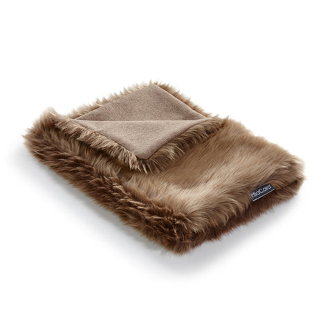 Land of Meow | Mia Cara Lana Cat Blanket - Taupe