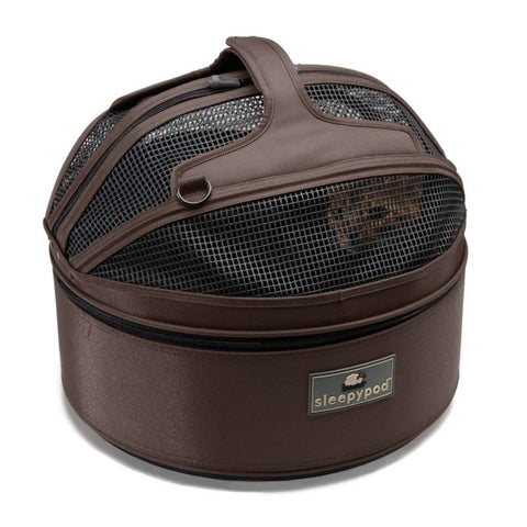 Land of Meow SleepyPod Cat Carrier Chocolate Top