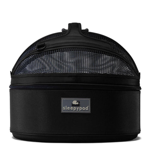 Land of Meow SleepyPod Cat Carrier Jet Black Front