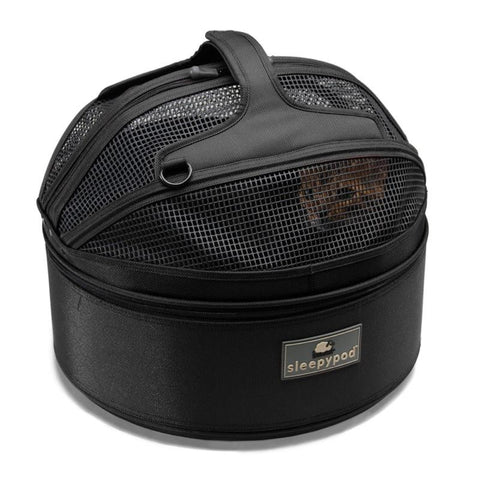 Land of Meow SleepyPod Cat Carrier Jet Black Top