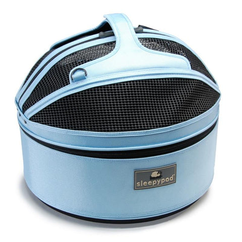 Land of Meow SleepyPod Cat Carrier Sky Blue Top