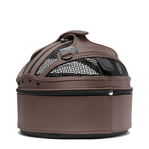 Land of Meow SleepyPod Mini Cat Carrier Dark Chocolate Back