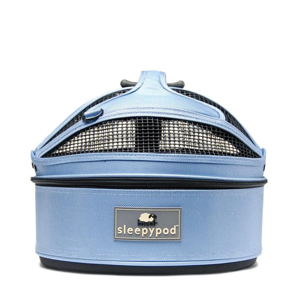 Land of Meow SleepyPod Mini Cat Carrier Sky Blue Front