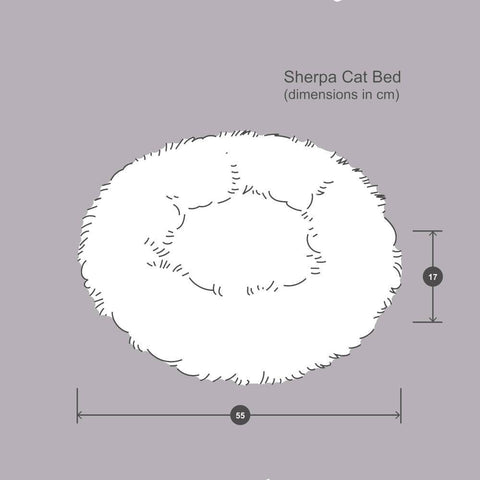 Sherpa Cat Bed - Brown