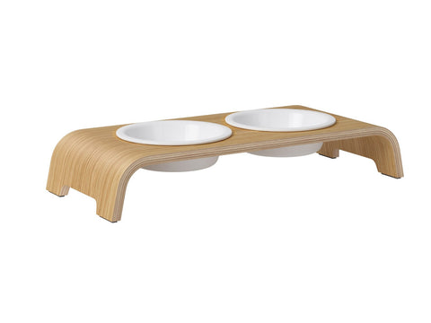 catBar Feedbowls Porcelain - Oak