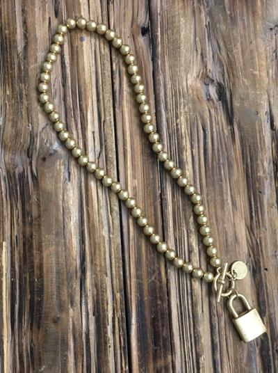 Ball in Chain Necklace-Women's -New Arrivals-Runway Seven