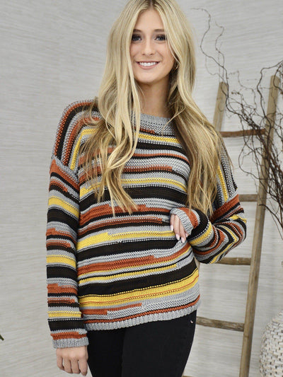 Small Town Life Sweater-Women's -New Arrivals-Runway Seven
