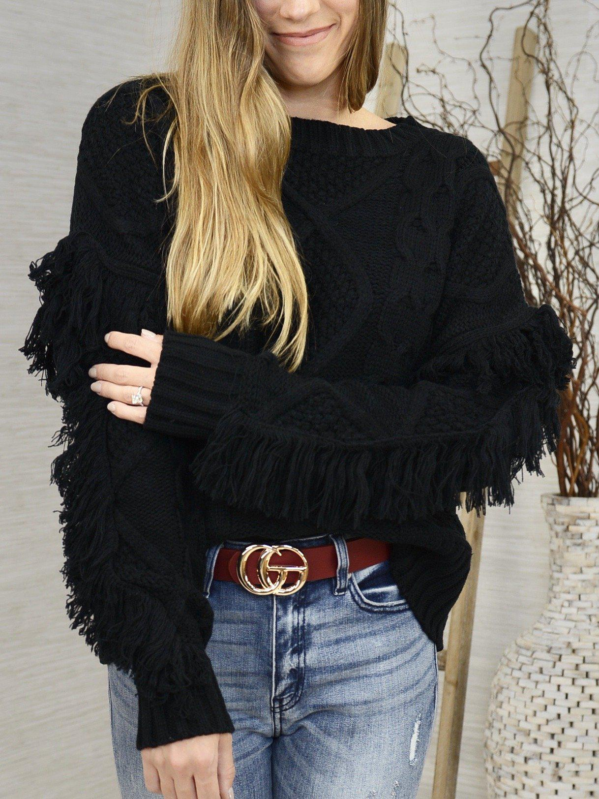 Fanciful Fringe Sweater-Women's -New Arrivals-Runway Seven