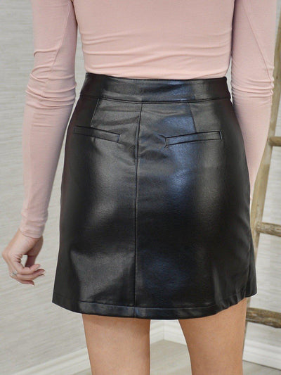 Wrapped Right Skirt-Women's -New Arrivals-Runway Seven