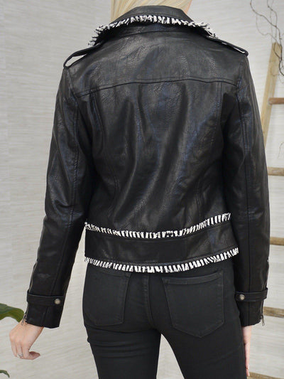 Leather in Style Jacket-Women's -New Arrivals-Runway Seven