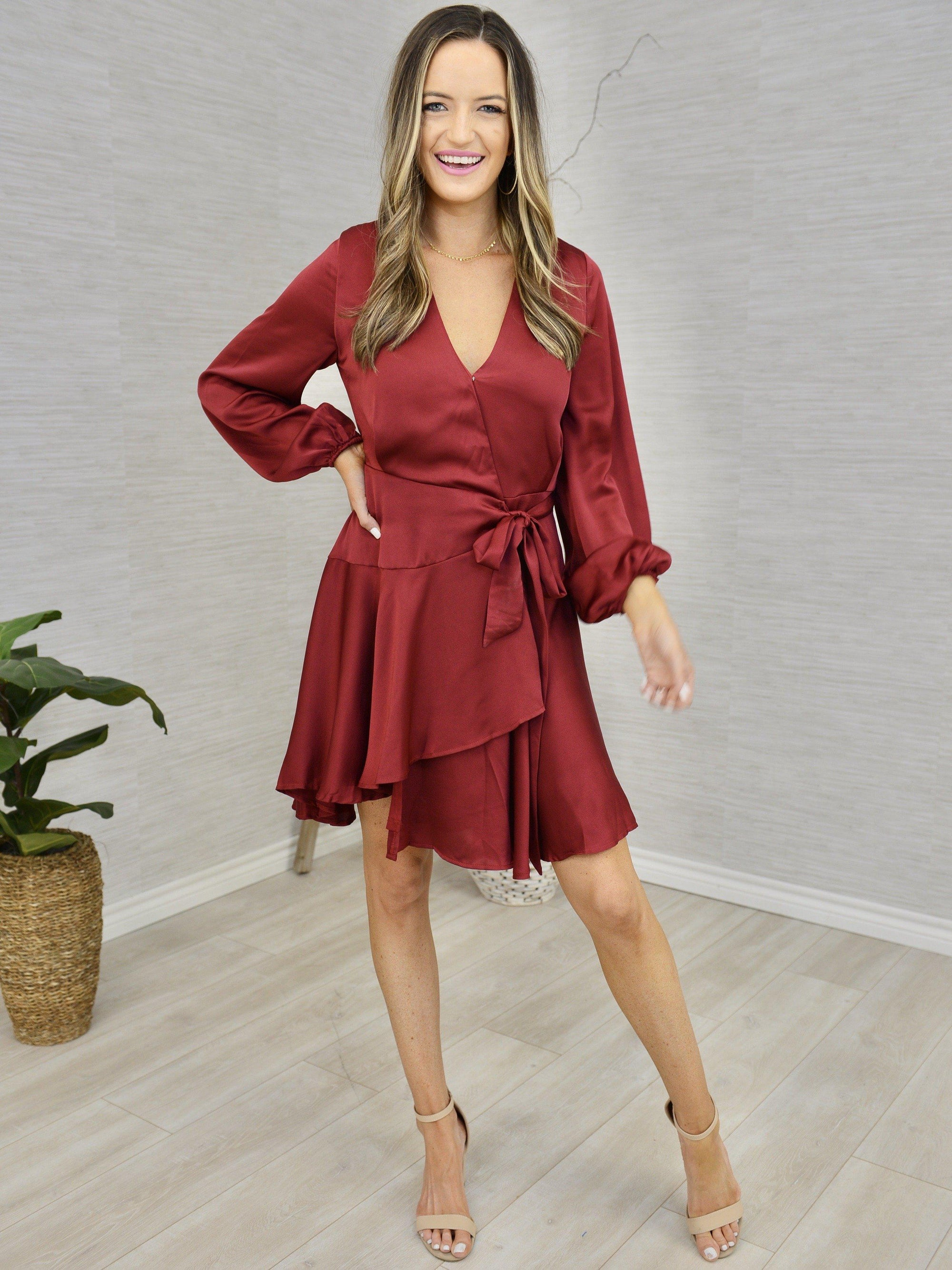Merlot Memories Dress-Women's -New Arrivals-Runway Seven