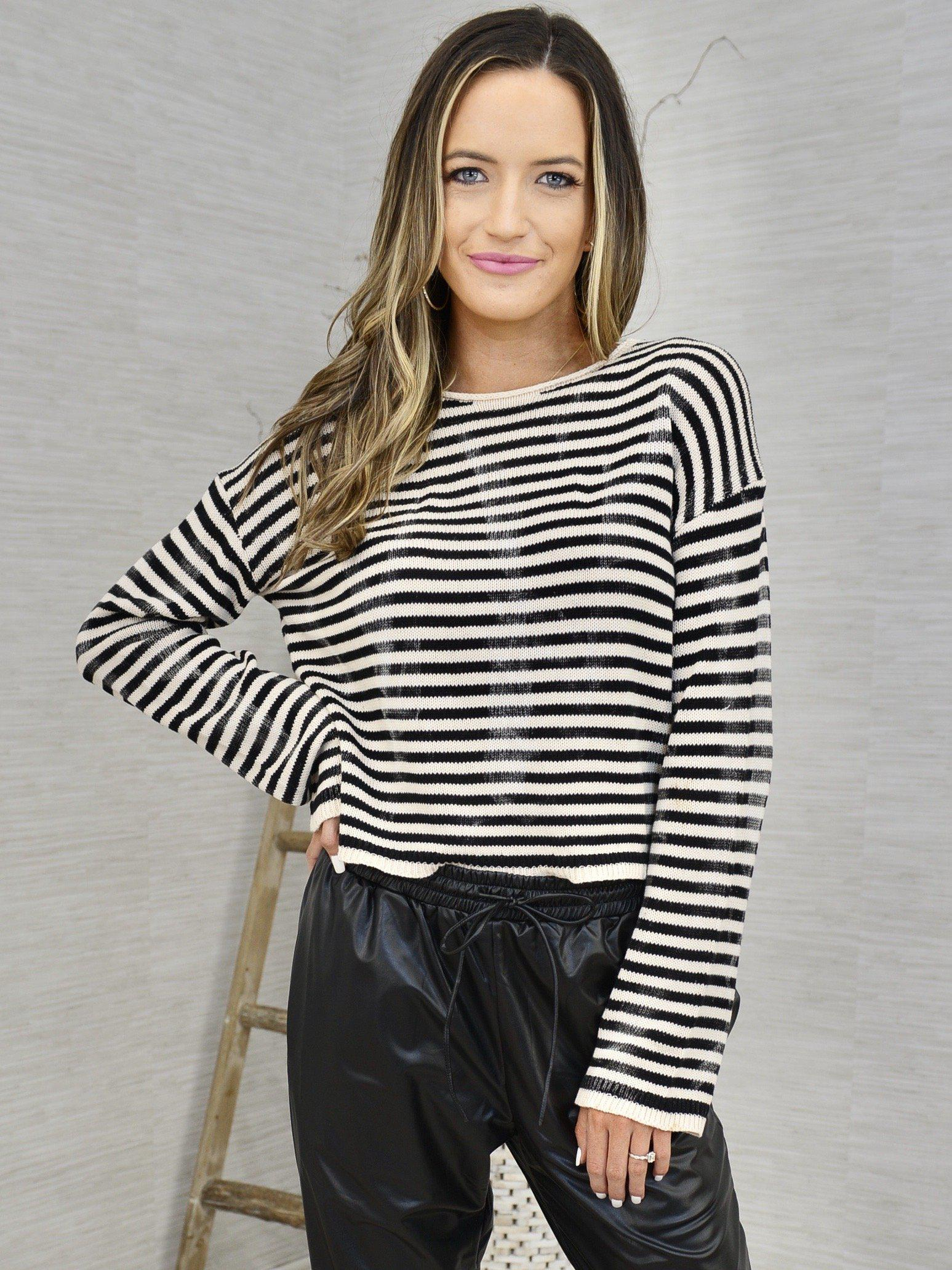 Stripe a Chord Sweater-Women's -New Arrivals-Runway Seven