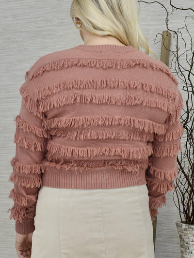Just Mauvey Sweater-Women's -New Arrivals-Runway Seven
