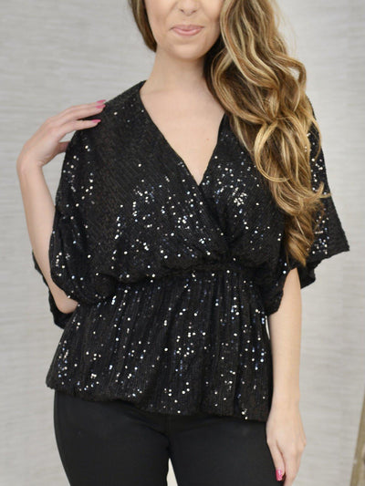 Midnight Glisten Top-Women's -New Arrivals-Runway Seven