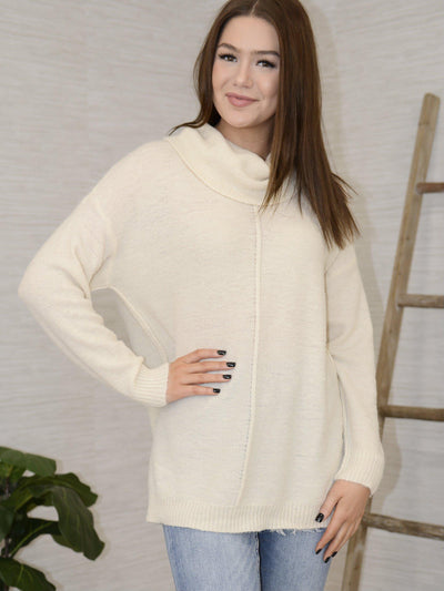 On a Roll Sweater - Cream-Women's -New Arrivals-Runway Seven