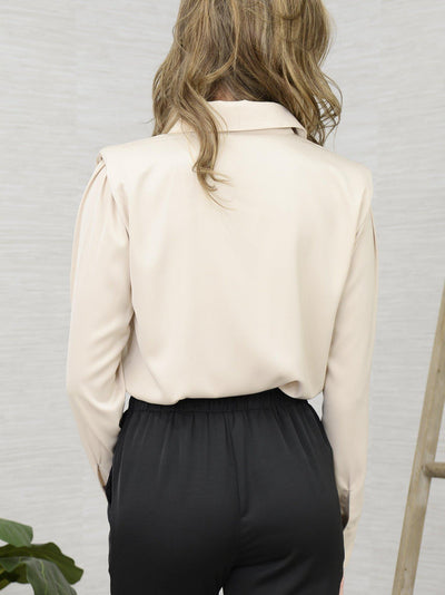 On My Shoulder Blouse-Women's -New Arrivals-Runway Seven